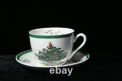 12 Vintage Spode England Christmas Tree Coffee Cups & Saucer SETS Pristine