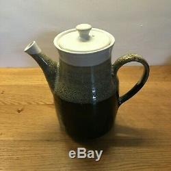 26pc Vintage'70s Scottish Handmade LOCHHEAD KIRKCUDBRIGHT Brown/Grey Coffee Set