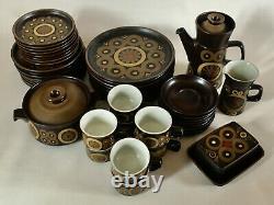 44 x Denby Arabesque 8 Service Dining/Tableware & Coffee Set Vintage/Retro 70s