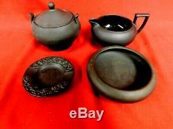 4 PC Vintage Wedgwood Basalt Glazed (Creamer, Sugar Bowl, Incurved Bowl)
