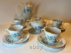 50's vintage tea/coffee set, 14 pieces Cmielow Poland