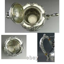 5pc Vintage c1930 Sterling Silver Frank Whiting 6727 Tea & Coffee Set