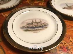 6 Cup 6 Saucer 6 Cake plate Set Rare Vintage WJS Copenhagen Porcelain Coffee Set