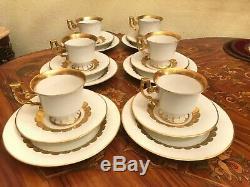 6 Cup 6 Saucer 6 Cake plates Rare Vintage German Heinrich Porcelain Coffee Set