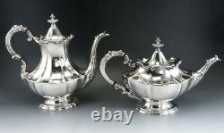 6pc Vintage 1951 Silver Plate Reed & Barton Victorian Tea/Coffee Set with Tray