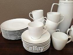 ANTIQUE Vtg RARE 27 SCHONWALD GERMANY White Dishes FINE CHINA Tea Coffee Set Old