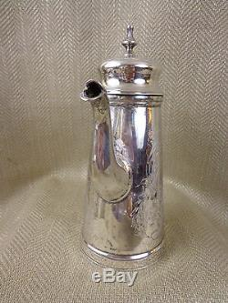 Antique Coffee Set Silver Plated Vintage Ornate Chased Engraving Jug Bowl Pot