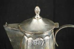 Antique/Vintage/Art Deco Silver Plate Coffee Set Made in Mexico Collectible 3 Pc