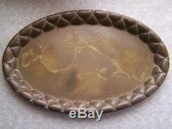 Antique Vintage Brass Tea / Coffee Set Tray German Designer Ignatius Taschner
