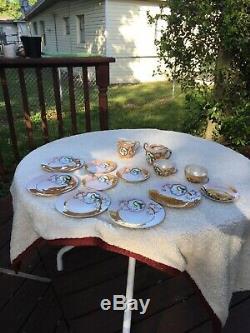 Antique Vintage Hand Painted Japanese Porcelain Tea or Coffee Set