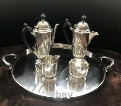 Antique Vintage Mappin & Webb 5 Piece Silver Plate Art Deco Coffee / Tea Set