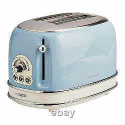 Ariete Dome Kettle, 2 Slice Toaster and Filter Coffee Machine Set, Vintage Blue