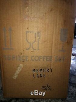 BNIB VINTAGE ROYAL ALBERT MEMORY LANE 15pc COFFEE SET