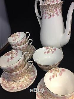 Beautiful Vintage Bone China Rare Shelley Tea/ Coffee 15 Piece Set #gt