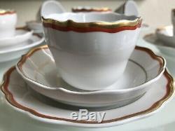 Beautiful Vintage Meissen 18 Pieces Coffee Set Rare MID Century Minimalist 1960