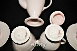 Beautiful Vintage Wedgwood Alpine Pink Demitasse Coffee Set