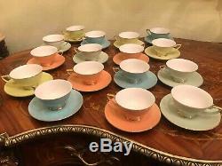 Big Vintage 16 cups 16 saucers German Porcelain Tea Coffee Set