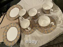 Burberry Vintage Tea/Coffee Cup and Saucer (Mug) Set London, NWT Made In England
