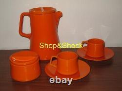 CERAMICA FRANCO POZZI GALLARATE Servizio Caffè Caffettiera Vintage Coffee Set