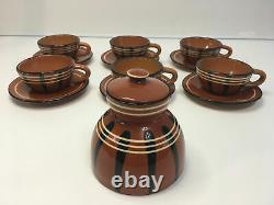 Coffee set Tea set vintage ceramics Handmade 13 items