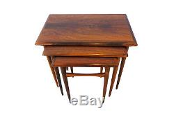 Danish, vintage Kai Kristiansen Mid Century rosewood nesting coffee table set
