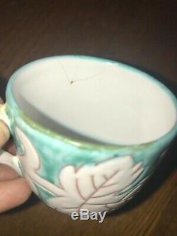 Demitasse coffee set handpainted Rare Vintage 50's Italian