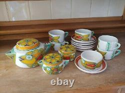 Desimone (De Simone) Hand Painted Vintage Coffee/Tea Set Made in Italy, Signed