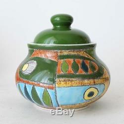 Eduardo Vega vintage ceramic tea coffee set handpainted, Cuenca Equador