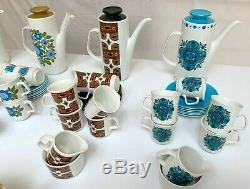 Eight X J&G meakin Studio Pottery Coffee Sets / Vintage Retro Washington Pottery