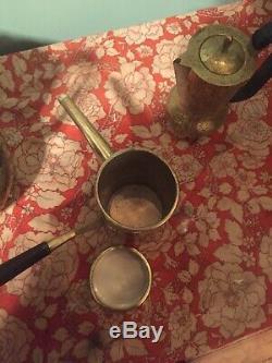 Exquisite Vintage GOLD/copper TEA COFFEE SET Art Deco