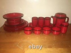 Flammfest Flame by Thomas Rosenthal 14 piece Vintage Coffee and Dish Set