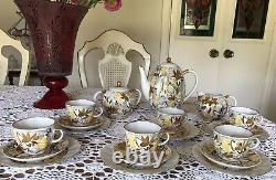 GOLDEN CHAMOMILE LFZ Lomonosov USSR- Coffee Set