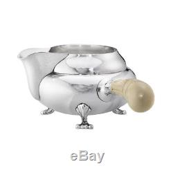 Georg Jensen Silver Coffee & Tea Set Blossom/ Magnolia #2D/ #2C VINTAGE