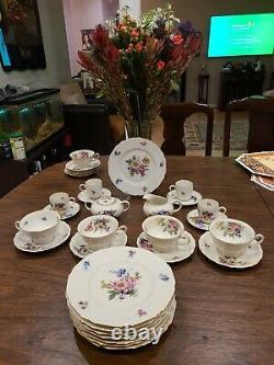 Hutschenreuther hohenberg Fine Vintage German China Tea & Coffee Set 26 PIECES