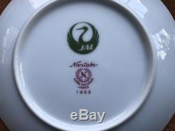 JAL Japan Airlines 12 Cup & Saucer Sets Noritake Vtg Advertising Tea Coffee