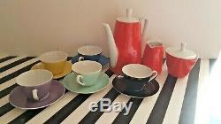 KAHLA vintage GDR coffee set 13 pieces MINT condition
