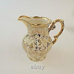 Mitterteich Bavaria Coffee Set for Four White and Gold Vintage Rare