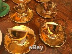 Mixed Coffee Sets 21 Cups Saucers Pot Milk Sugar Cup Vintage German Bareuther
