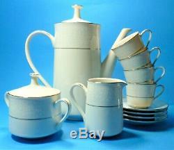 Noritake Fine Bone China Tahoe 2585 4 Piece Coffee Set White Lace Vintage Set