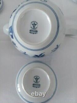 Original Vintage Zwiebelmuster Czechoslovakia Blue Onion Tea /coffee Set For 6