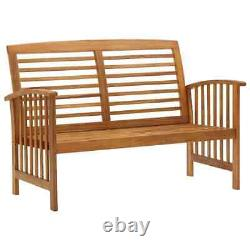 Outdoor Patio Wooden Furniture Vintage Garden Bench And Coffee Table Bistro Set
