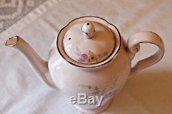 Pink TUSCAN Vintage China Rare Tea Set TEAPOT COFFEE POT HOT WATER JUG Oriental