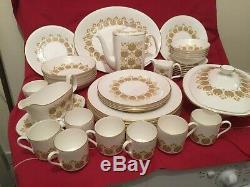 Polonaise Royal Doulton Vintage 43 Piece Dinner Service / Coffee Set c. 1970