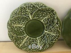 Portugal Coffee / Tea Set Bordallo Pinheiro Cabbage Leaves Vintage