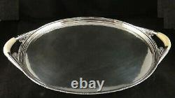 Rare Vintage Georg Jensen Hammered Sterling 6pc Coffee Set withTray