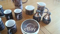 Retro vintage coffee set