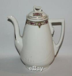 Richard Ginori, Italy Rose Garland, C1214 Vintage 15 Piece Coffee Set for 6