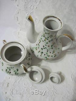 Russian Soviet Vintage Porcelain Coffee Set, Gorodnica Brand, USSR, 70s. Rare