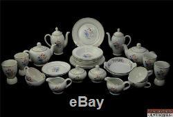 Set-28pc Tea Coffee Pots Cups Arabia Finland China VTG Wild Flowers Sprays Color