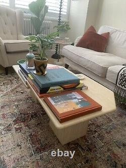 Set Of 2 Travertine Marble Coffee Tables 1980s
